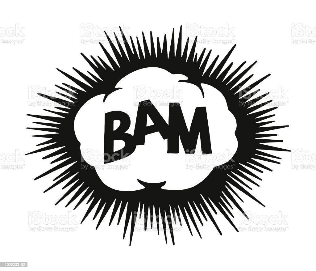 Bam Explosion vector art illustration