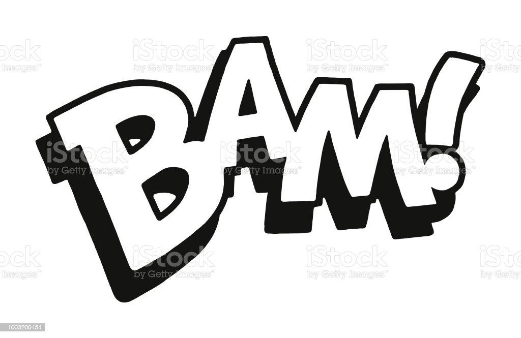 Bam vector art illustration