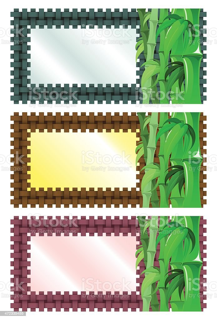 Bamboo Banners royalty-free stock vector art