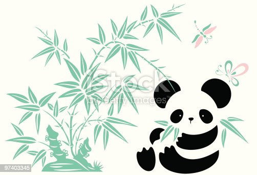 Bamboo, Butterfly , Dragonfly and Panda