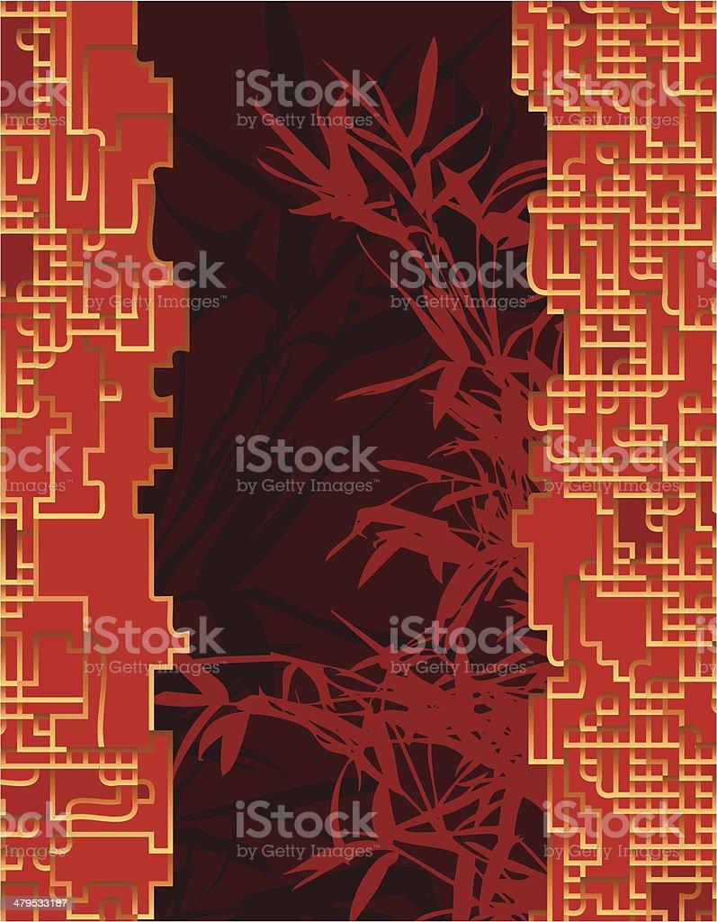 Bamboo Curtain royalty-free stock vector art