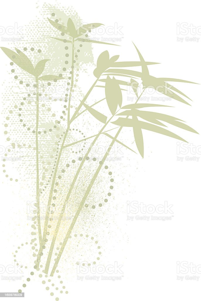 Bamboo Design Element vector art illustration