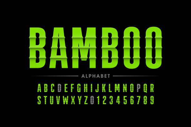 ilustrações de stock, clip art, desenhos animados e ícones de bamboo font - japanese font