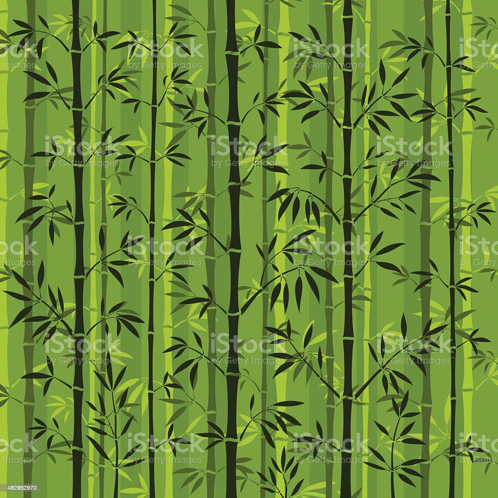 Bamboo Forest Background vector art illustration