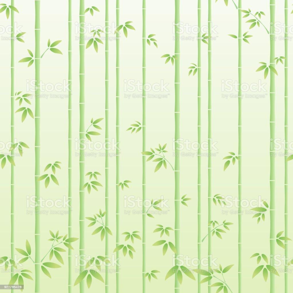 Bamboo forest vector art illustration