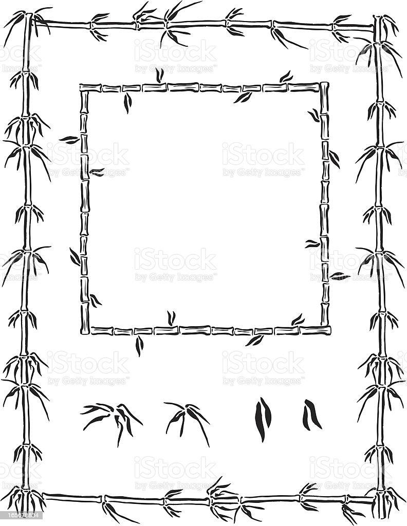 Bamboo Frame Background vector art illustration