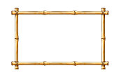 Bamboo frame template for tropical signboard.