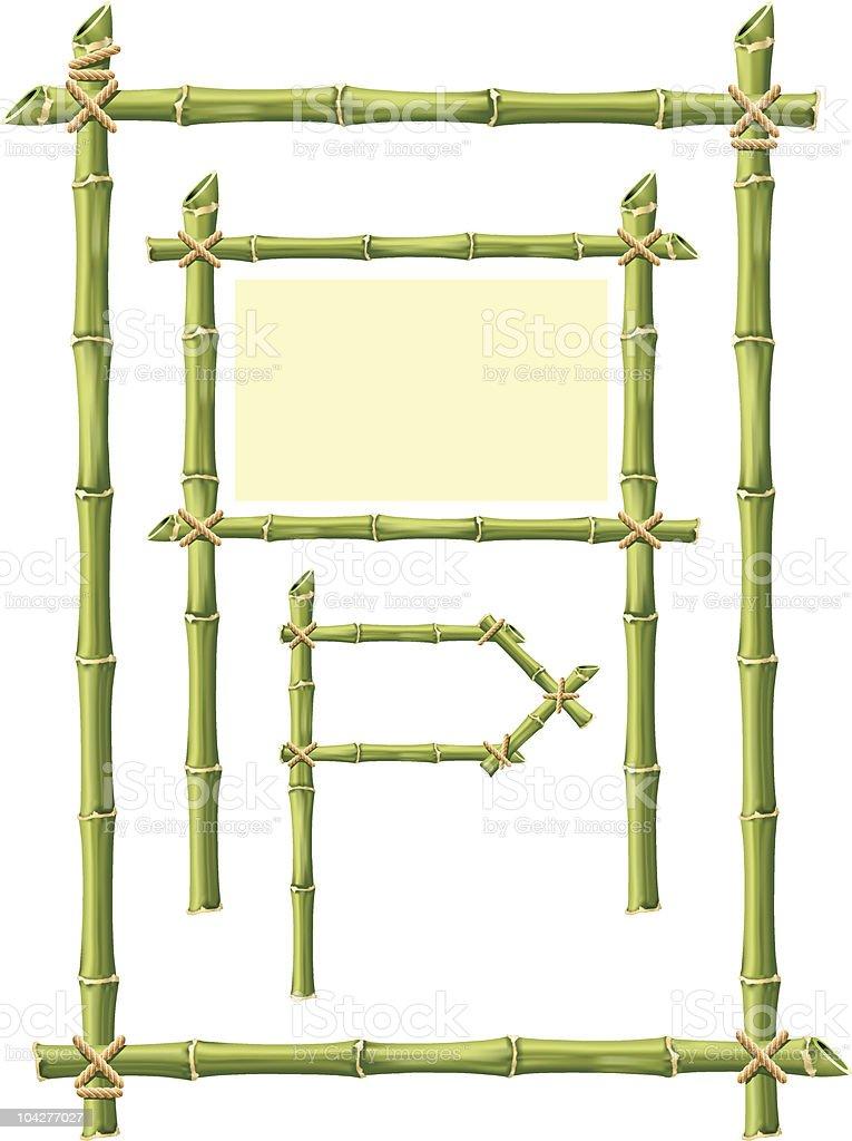 Bamboo Frame vector art illustration