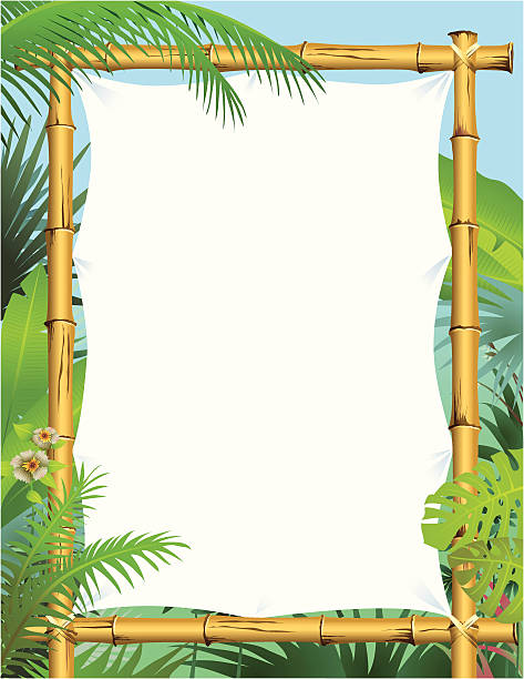 Bamboo material clip art vector images illustrations