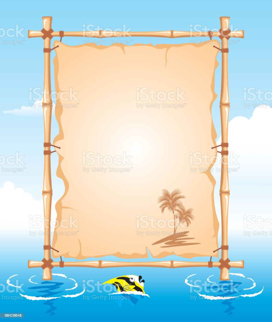 Bamboo Frame royalty-free bamboo frame stock vector art & more images of backgrounds
