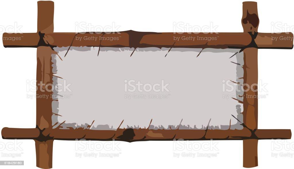 Bambusrahmen Mit Leinen Vektor Illustration 518429180 | iStock