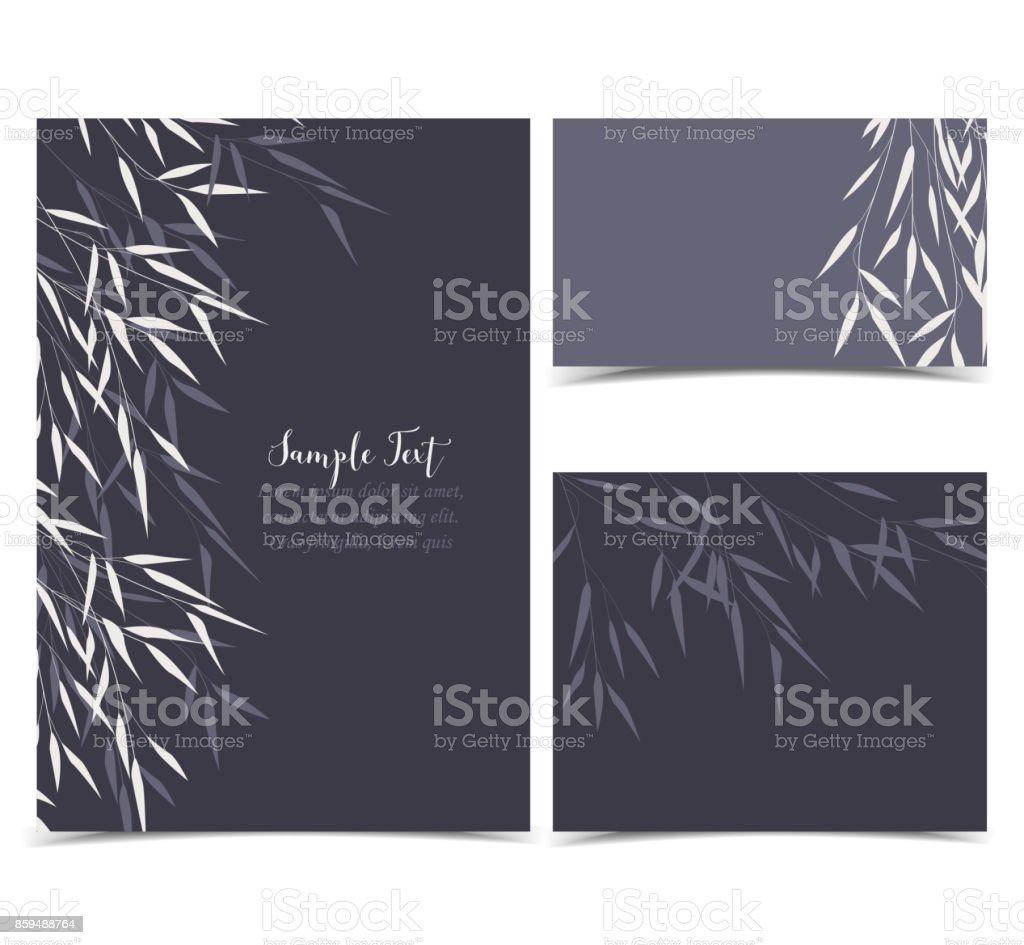 Bambus grün Blätter – Vektorgrafik