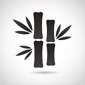 Bamboo icon isolated on white background.