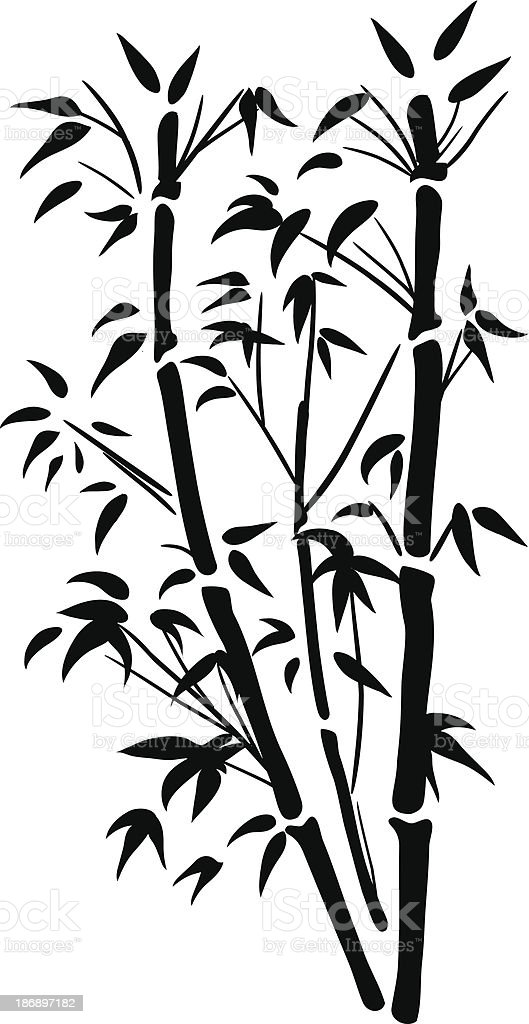 Bamboo Icon vector art illustration