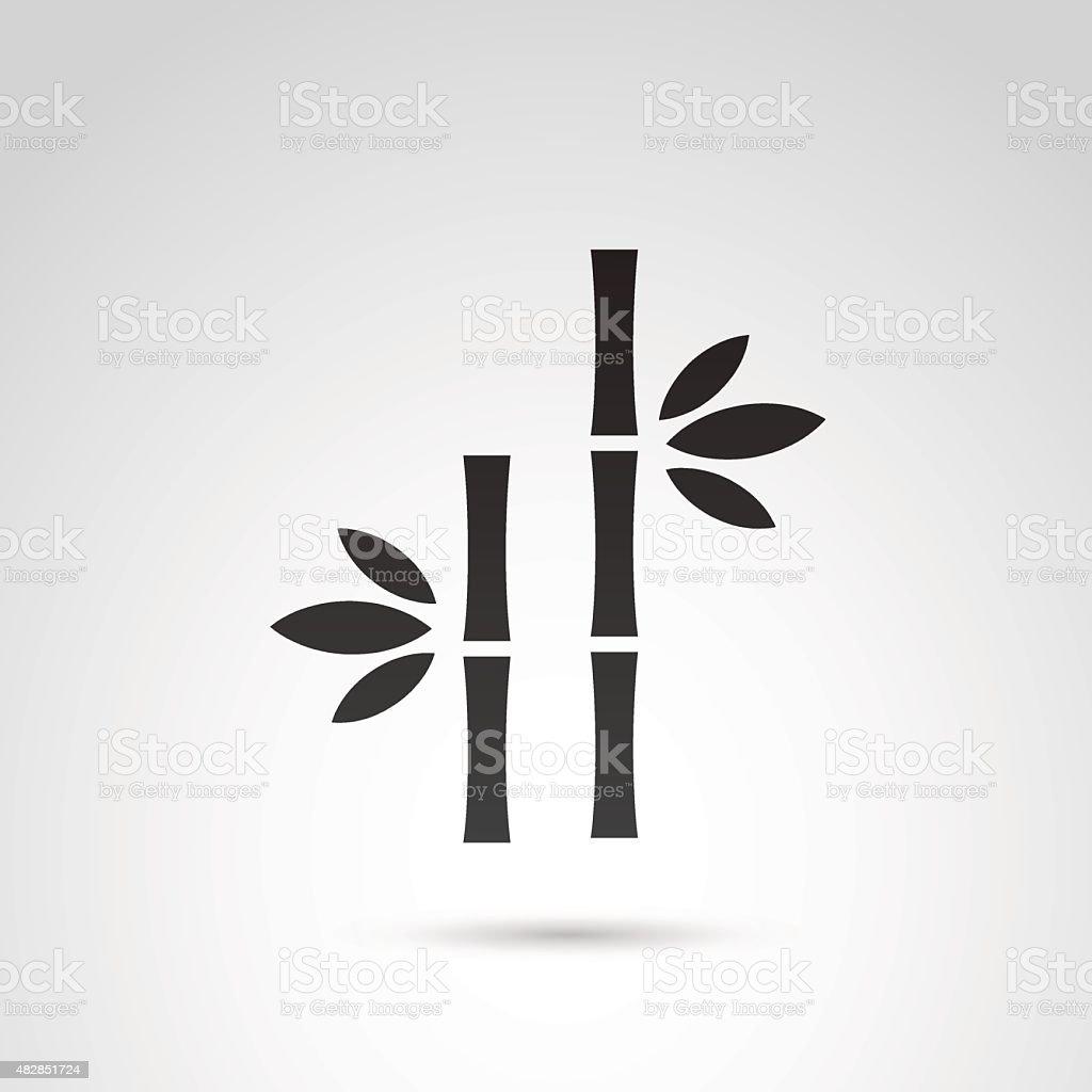 Bamboo icon. vector art illustration