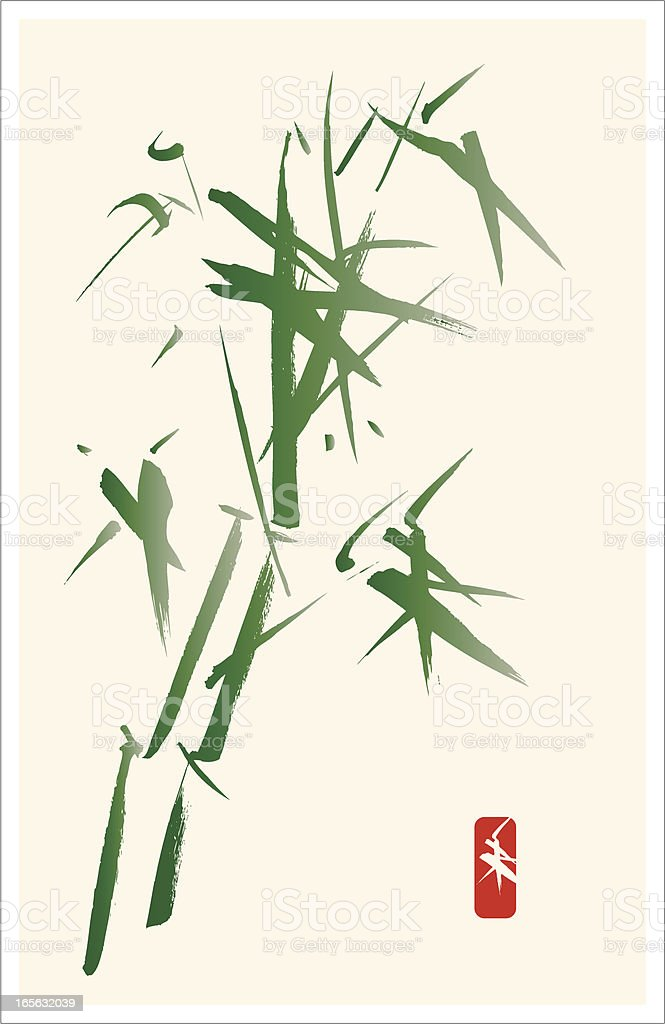 Bamboo in the Wind - Calligraphy and Painting royalty-free bamboo in the wind calligraphy and painting stock vector art & more images of beauty