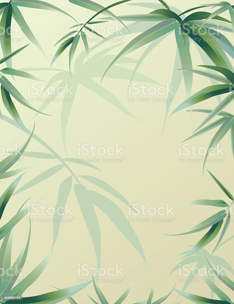 Bamboo Leaves Background vector art illustration