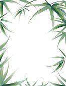 Bamboo Leaves Frame