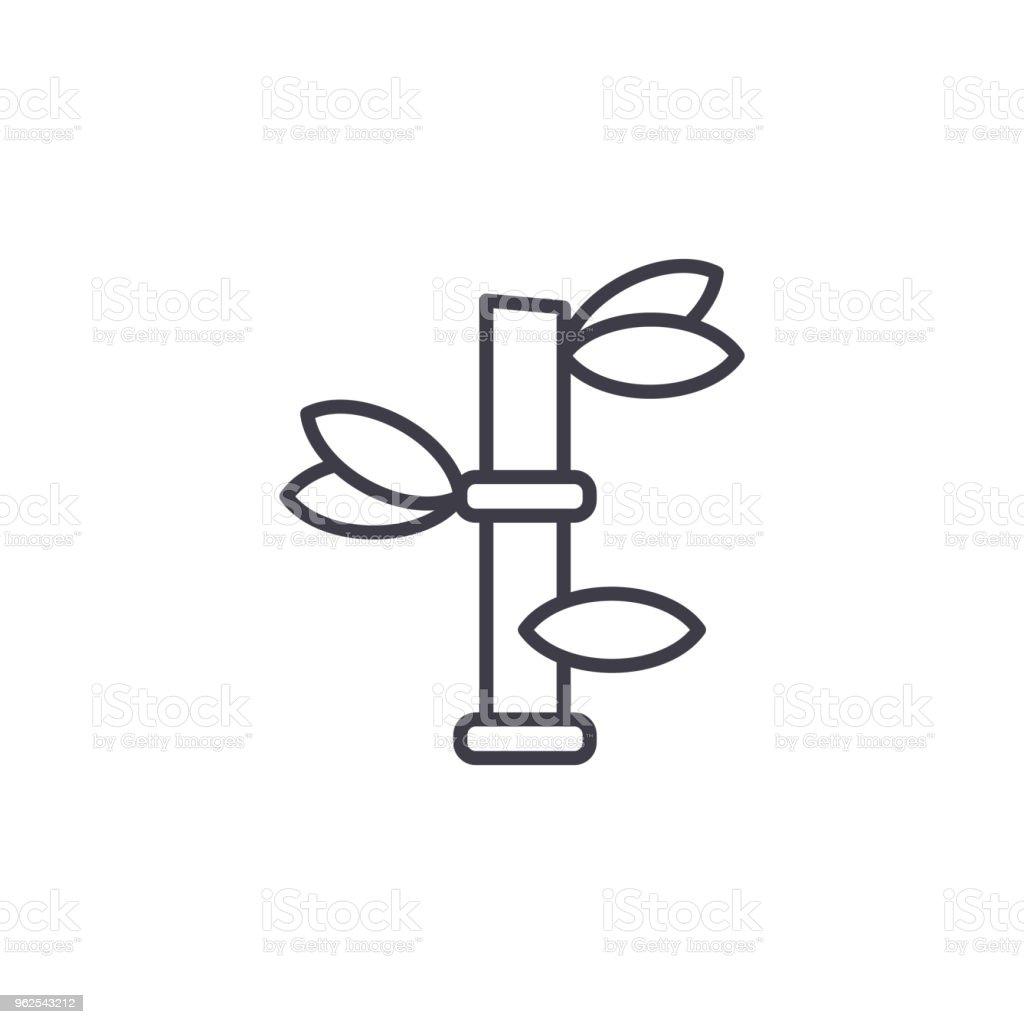 Conceito de ícone de linha bambu. Sinal vector plana de bambu, símbolo, ilustração. - Vetor de Abstrato royalty-free
