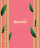 Retro wooden Summer Tiki Bamboo shutes on pink background poster advertisement design template. Cute a  cute Tiki style background which includes sample text design, hawaiian, tiki, asian themes. Pink or on a summery background.  Easy to edit printable with layers. Vector illustration royalty free. Lot's of texture and vintage Hawaiian style.