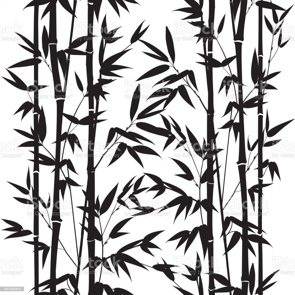 Bambus Nahtlose Muster – Vektorgrafik