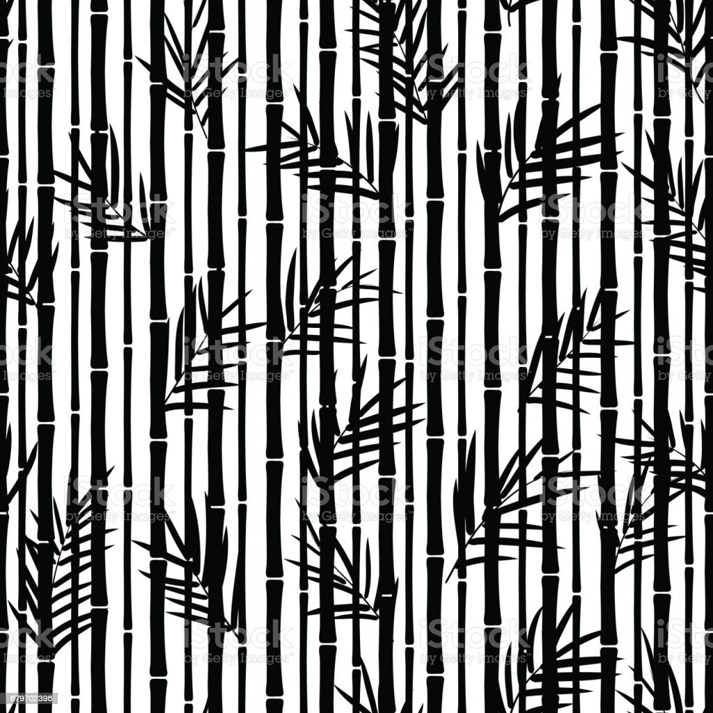 Bamboo seamless pattern. vector art illustration