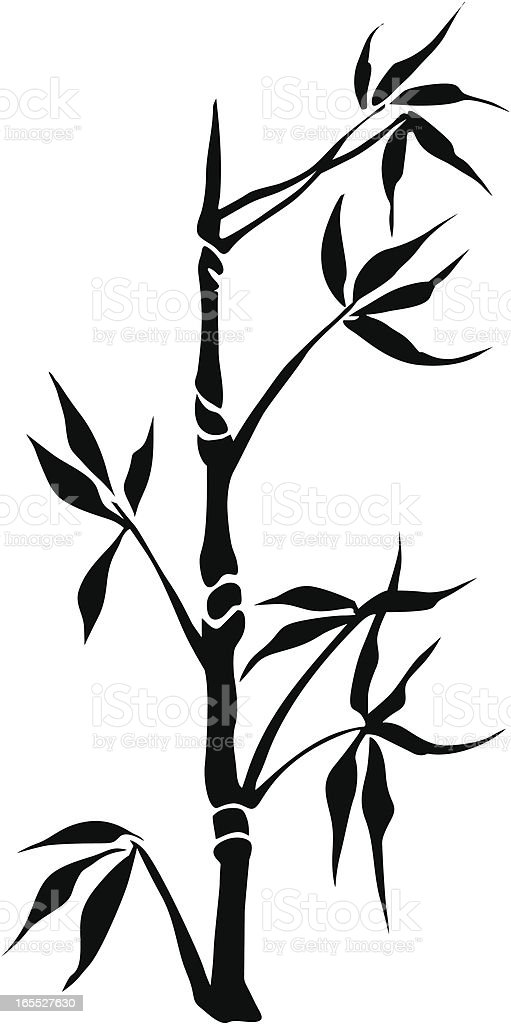 Bamboo silhouette royalty-free stock vector art