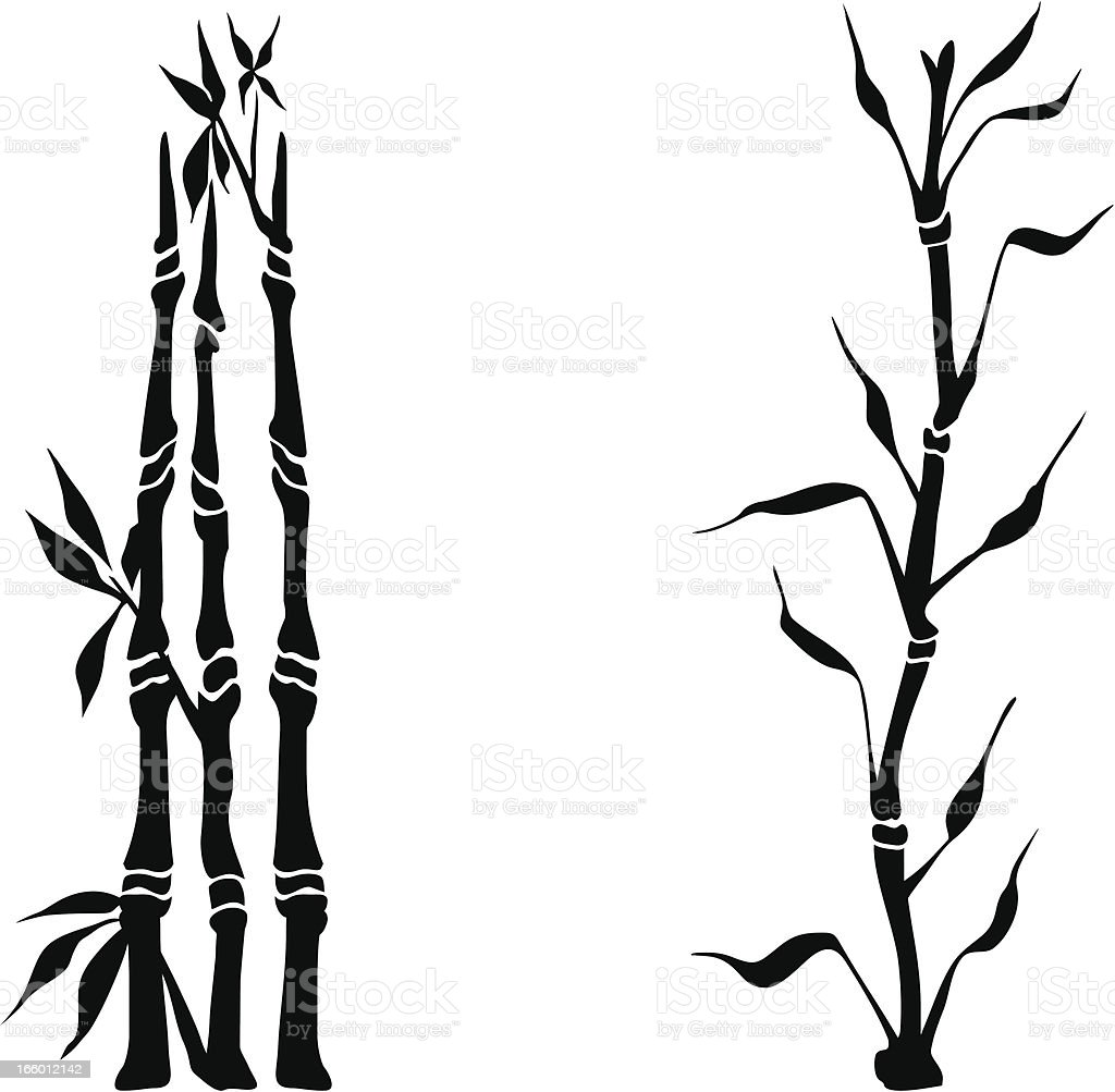 Bamboo silhouettes royalty-free stock vector art