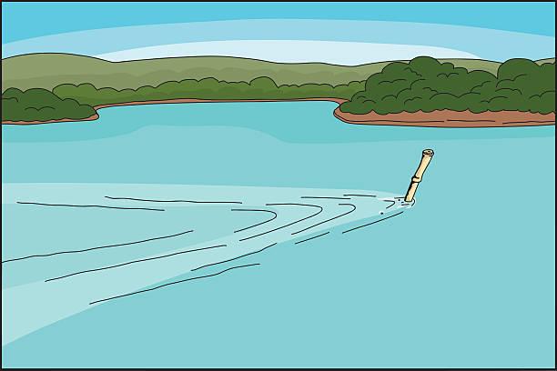 illustrazioni stock, clip art, cartoni animati e icone di tendenza di bambù snorkeling e immersioni - frogman