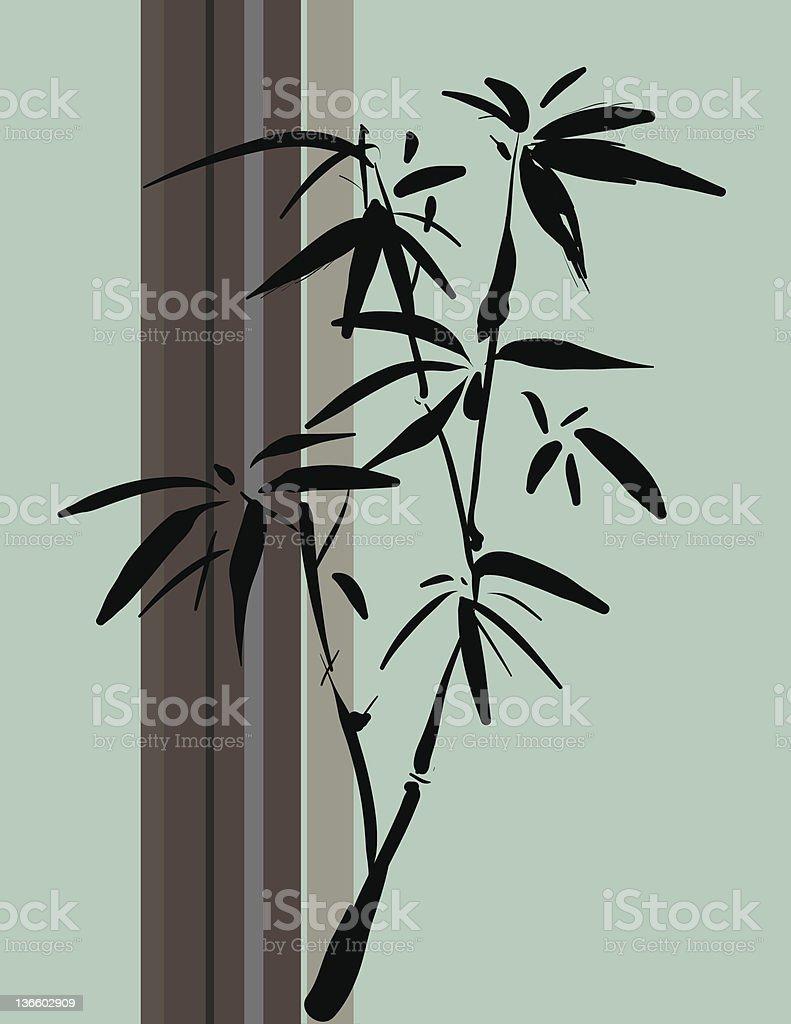 bamboo stroke vector art illustration