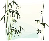 Illustration of a bamboo. Bamboo and background are grouped and layered separately.
