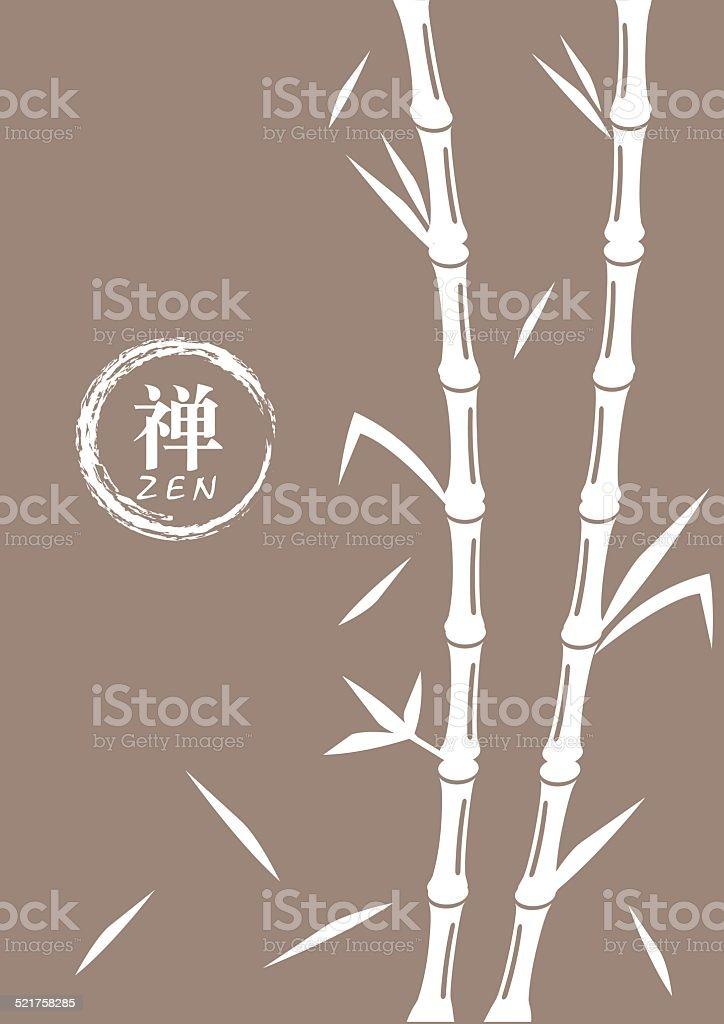 Bambusvektorillustration Mit Religioser Zensymbol Stock Vektor Art