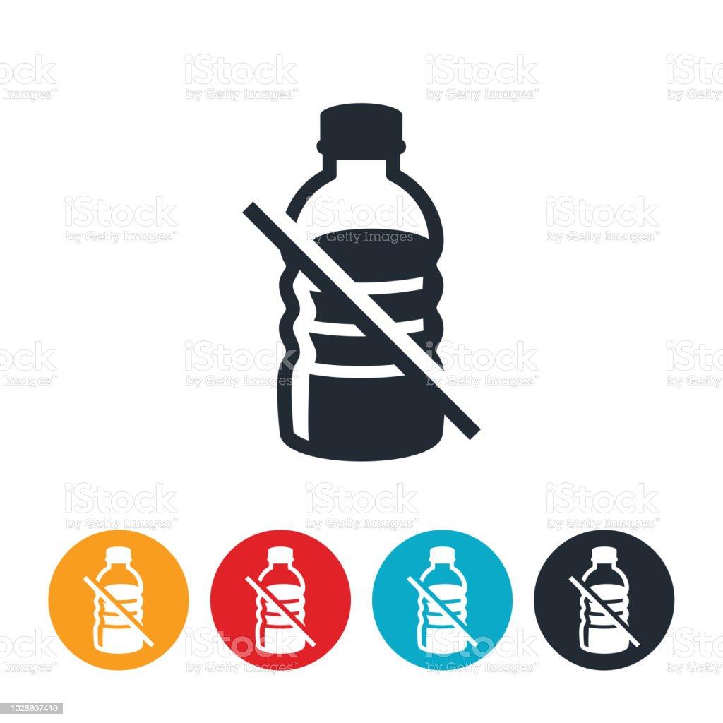 Ban On Plastics Icon vector art illustration