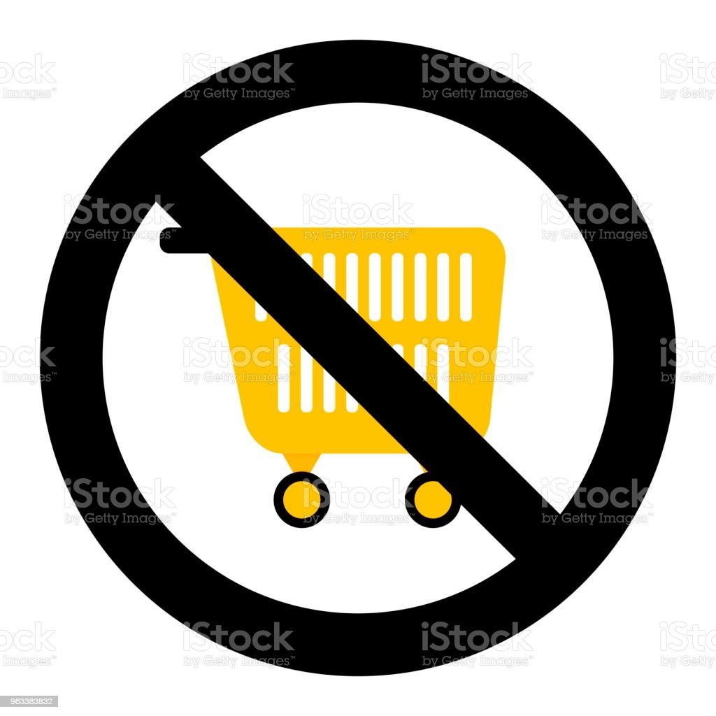 Ban shopping symbol - Grafika wektorowa royalty-free (Bezpieczeństwo)