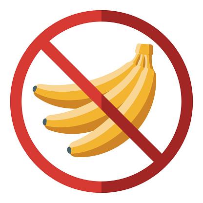 Banana Allergy Icon on Transparent Background