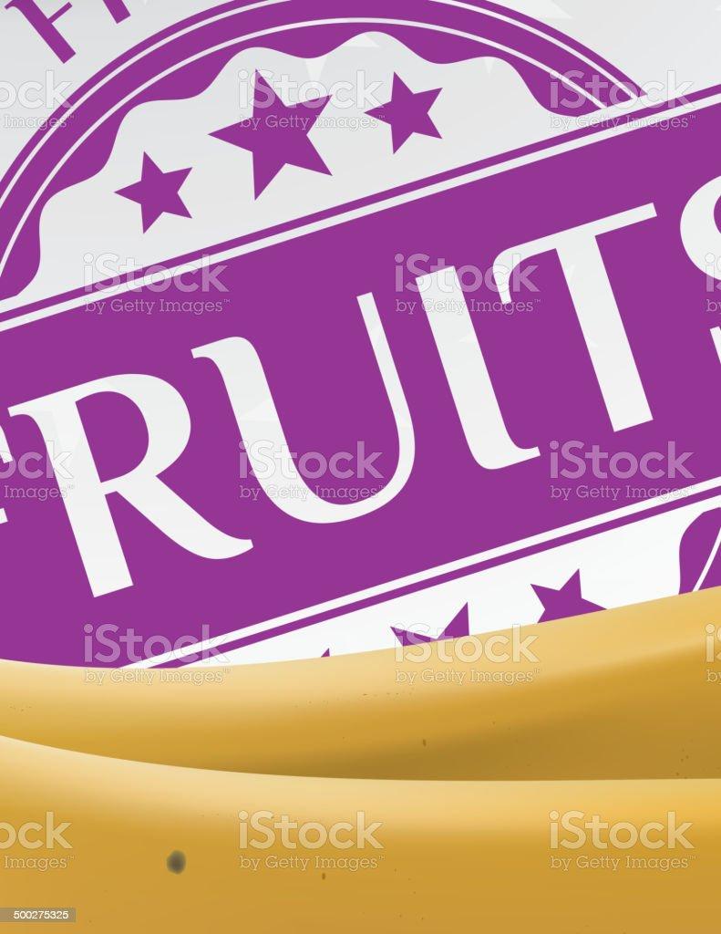 Banana and fruit sticker royalty-free stock vector art