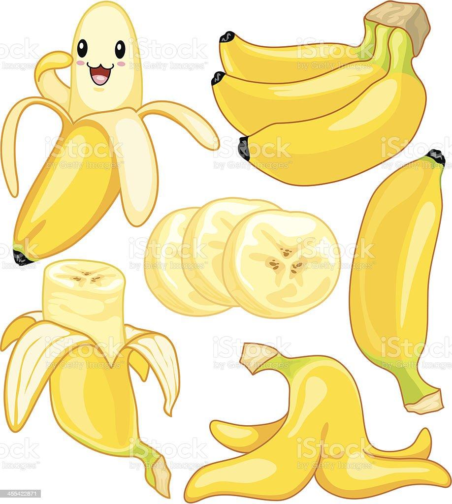 Banana de historieta - ilustración de arte vectorial