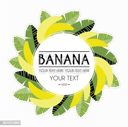 Banana Decorative Frame Stock Vector Art & More Images of Banana ...