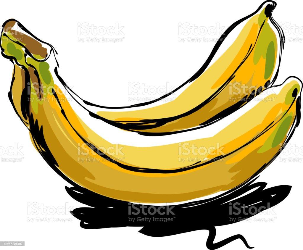 Banana Drawing Royalty Free Stock Vector Art Amp More Images Of