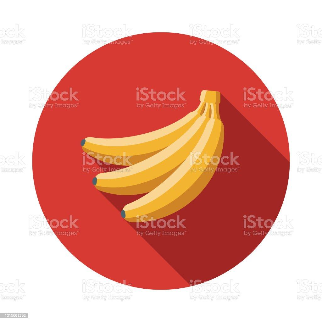 Banana Flat Design Breakfast Icon vector art illustration