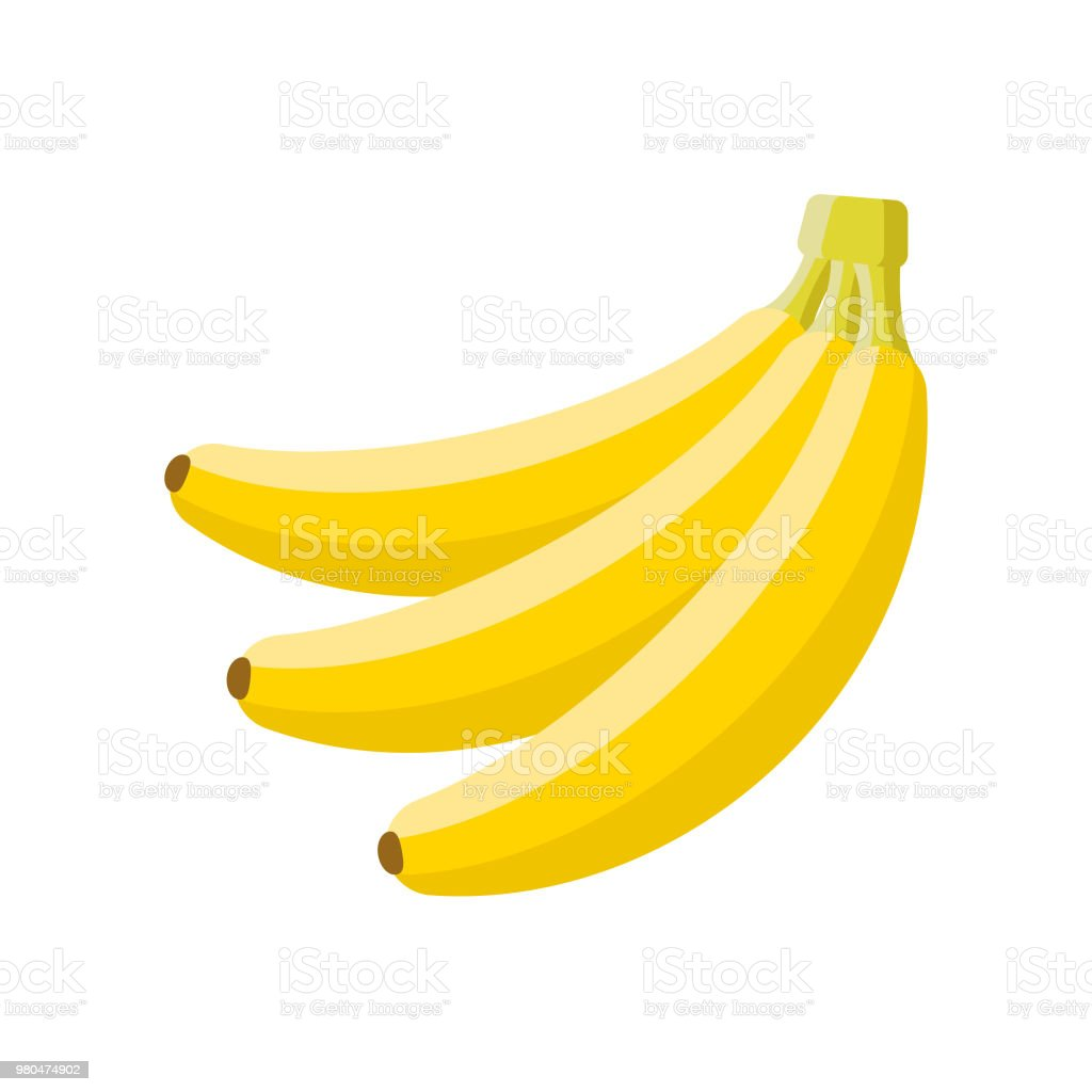 Banana Flat Design Fruit Icon vector art illustration