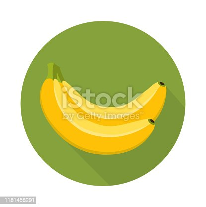 banana flat design vector illustration,bunch of banana.-vector.