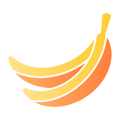 Banana flat icon. Fruit color icons in trendy flat style. Healthy food gradient style design, designed for web and app. Eps 10.