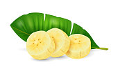 istock Banana fruit - exotic fruits collection, realistic design vector illustration 1306187721