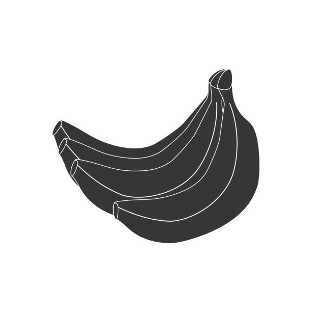 banana fruit icon - square foot garden stock illustrations, clip art, cartoons, & icons