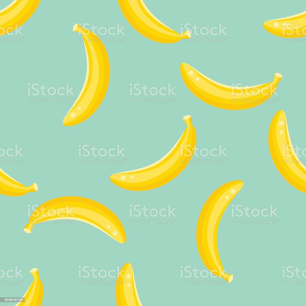Banana fruit pattern vector art illustration