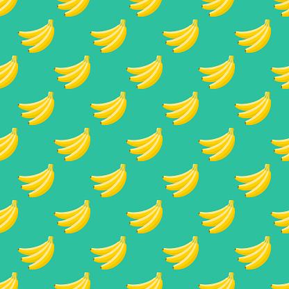 Banana Fruit Seamless Pattern