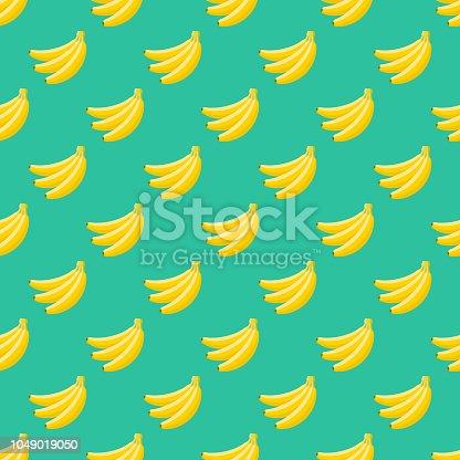istock Banana Fruit Seamless Pattern 1049019050