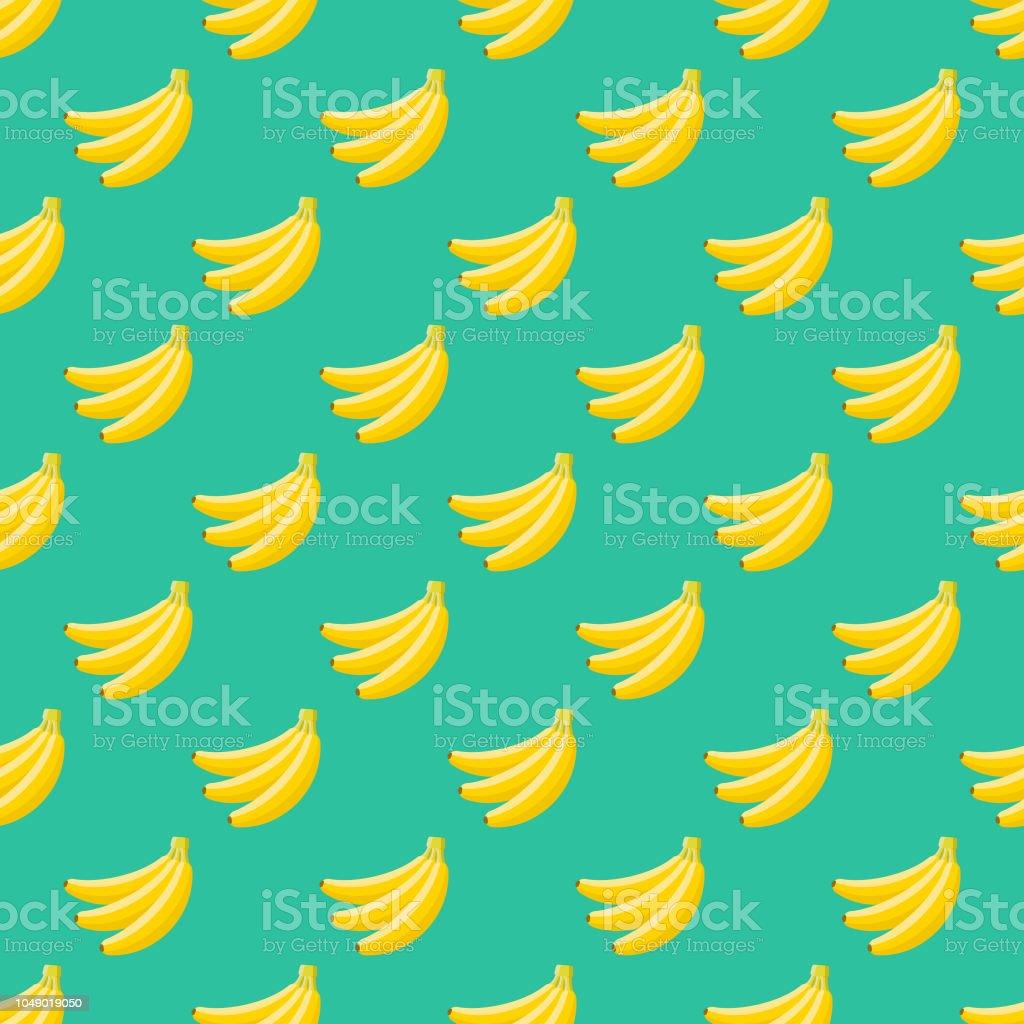 Banana Fruit Seamless Pattern vector art illustration