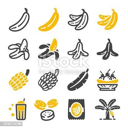 banana icon set